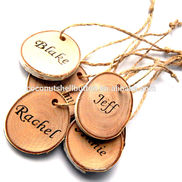 DIY HANDMADE CUSTOM NATURAL WOOD HANG TAGS FROM MANUFACTURER FACTORY