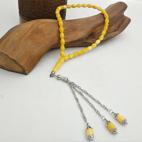 Saudi Arabia Best seller style 33 beads Amber Tasbih with nice smell prayer beads rosary